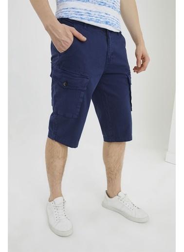 Z Giyim Kargo Cep Keten Şort & Bermuda Lacivert
